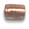 Glass Beads 12x8mm Tube Crystal Copper Lined